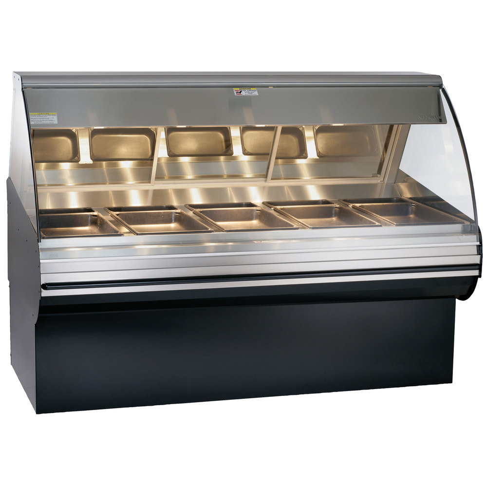 Alto-Shaam HN2SYS-72/PL S/S Stainless Steel Heated Display Case with Curved Glass and Base - Left Self Service 72""