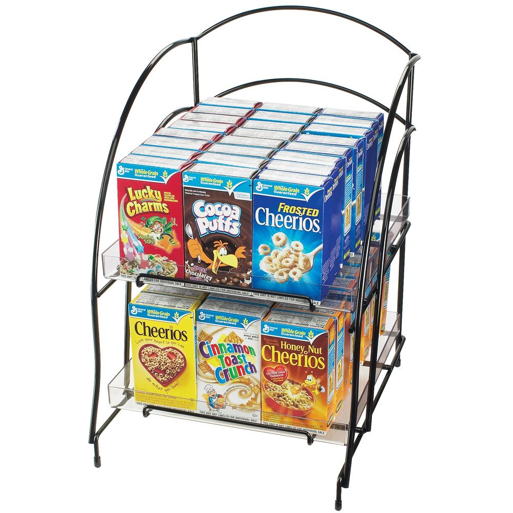 cal mil 639 wire countertop cereal organizer holds 48
