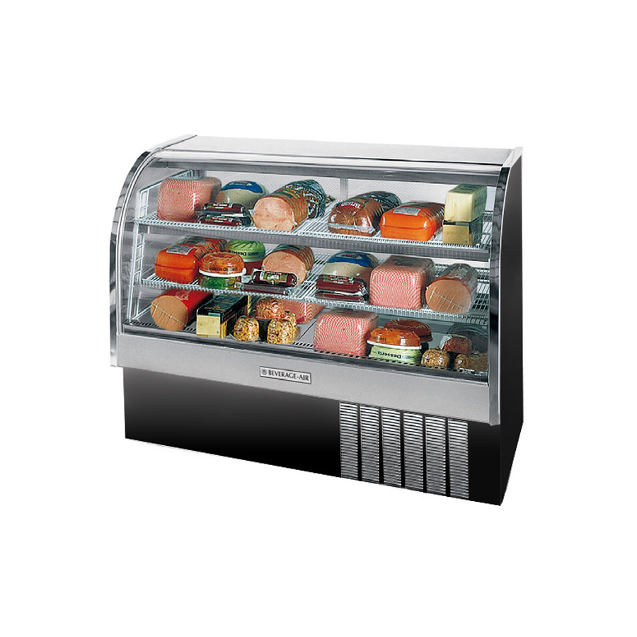 Beverage Air (Bev Air) CDR5/1-B Black Curved Glass Refrigerat