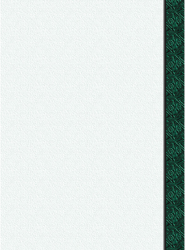 "8 1/2"" x 11"" Menu Paper Right Insert - Green Woven Border - 100/Pack"
