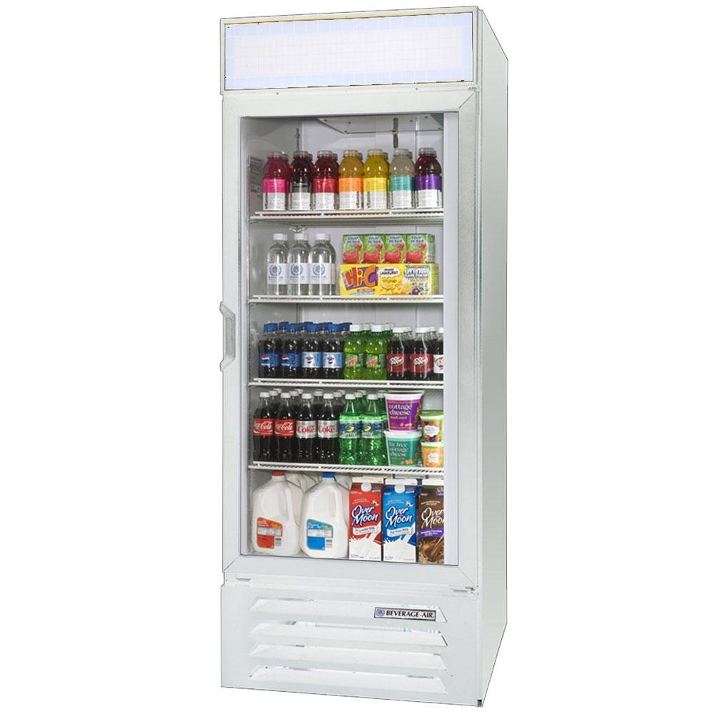 Beverage Air LV23-1-W-LED White Lumavue Refrigerated Glass Door Merchandiser with LED Lighting - 23 Cu. Ft. at Sears.com