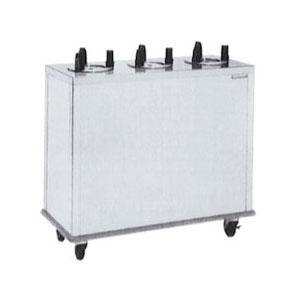 "Delfield CAB3-913ET Even Temp Mobile Enclosed Three Stack Heated Dish Dispenser / Warmer for 8 1/8"" to 9 1/8"" Dishes - 208V"