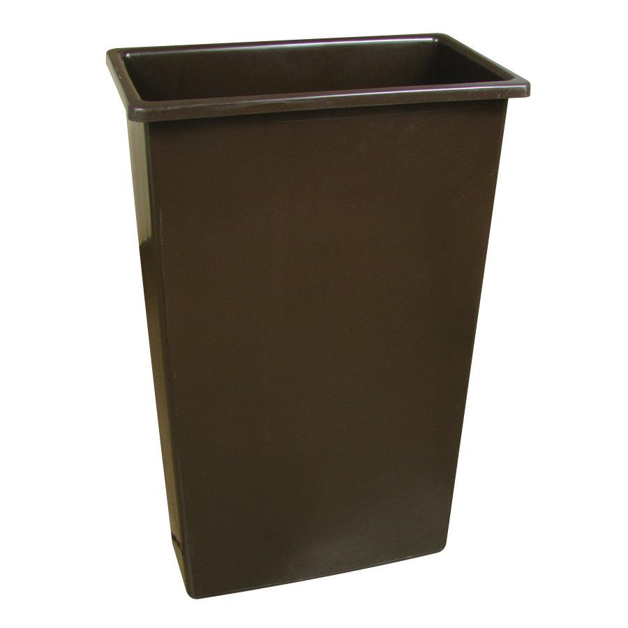 Continental 8322bn 23 Gallon Wall Hugger Brown Trash Can
