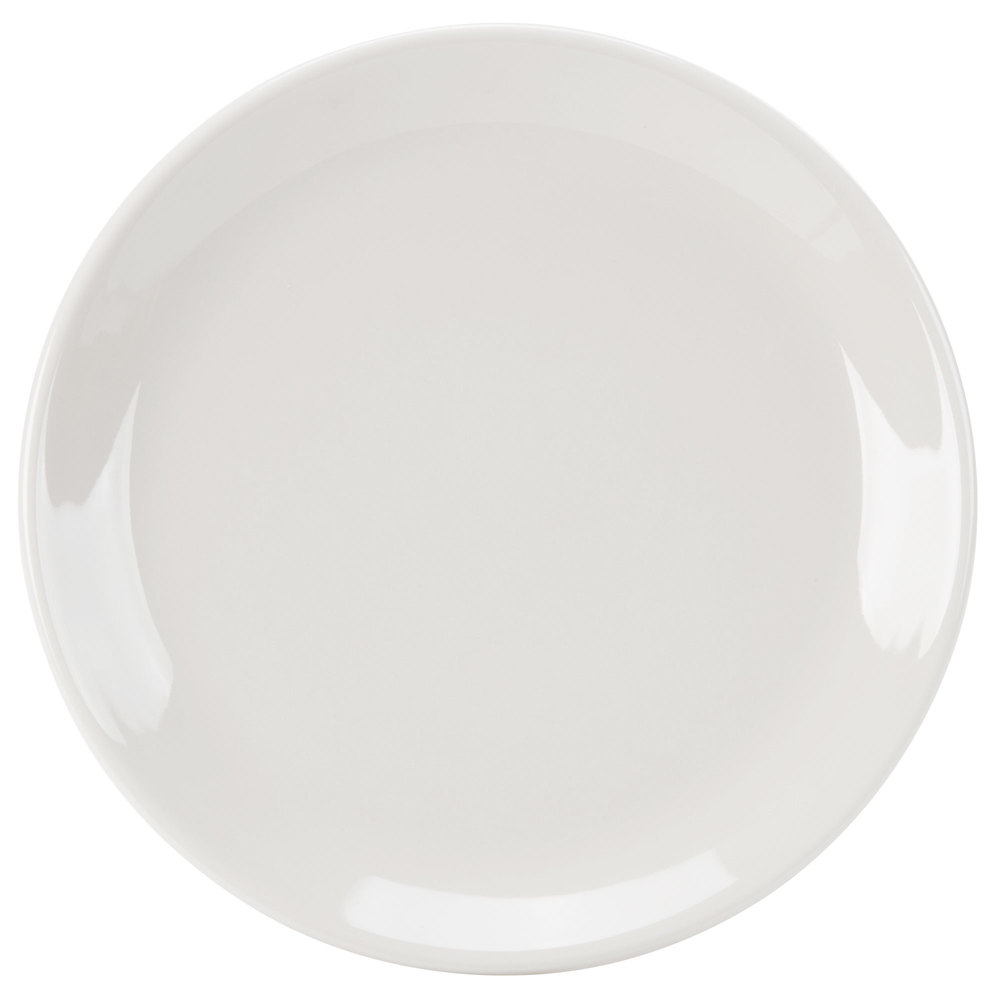 "Homer Laughlin 30400 Empire 6 1/2"" Ivory (American White) Coupe China Plate - 36/Case"