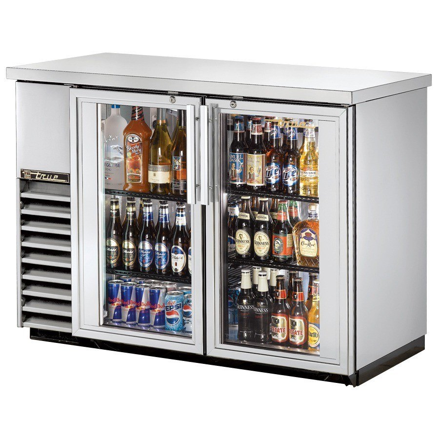 "True Refrigeration True TBB-24-48G-S 49"" Back Bar Cooler Stainless Steel with 2 Glass Doors - 24"" Deep at Sears.com"