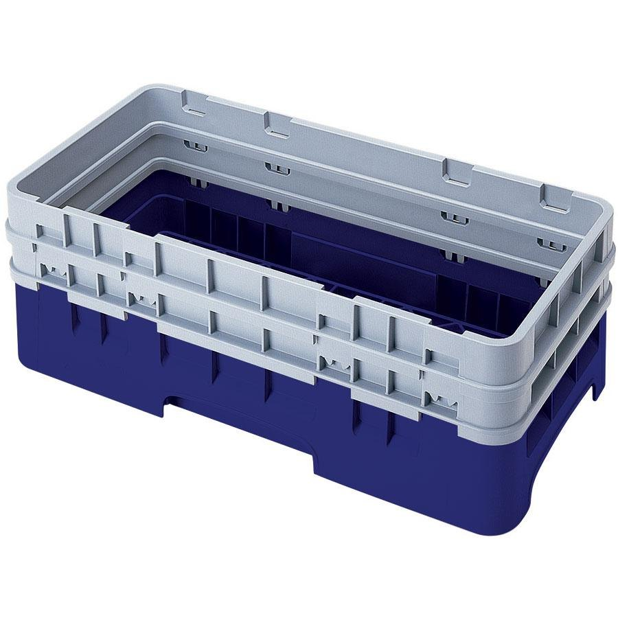 Cambro HBR578186 Navy Blue Camrack Half Size Open Base Rack with 2 Extenders