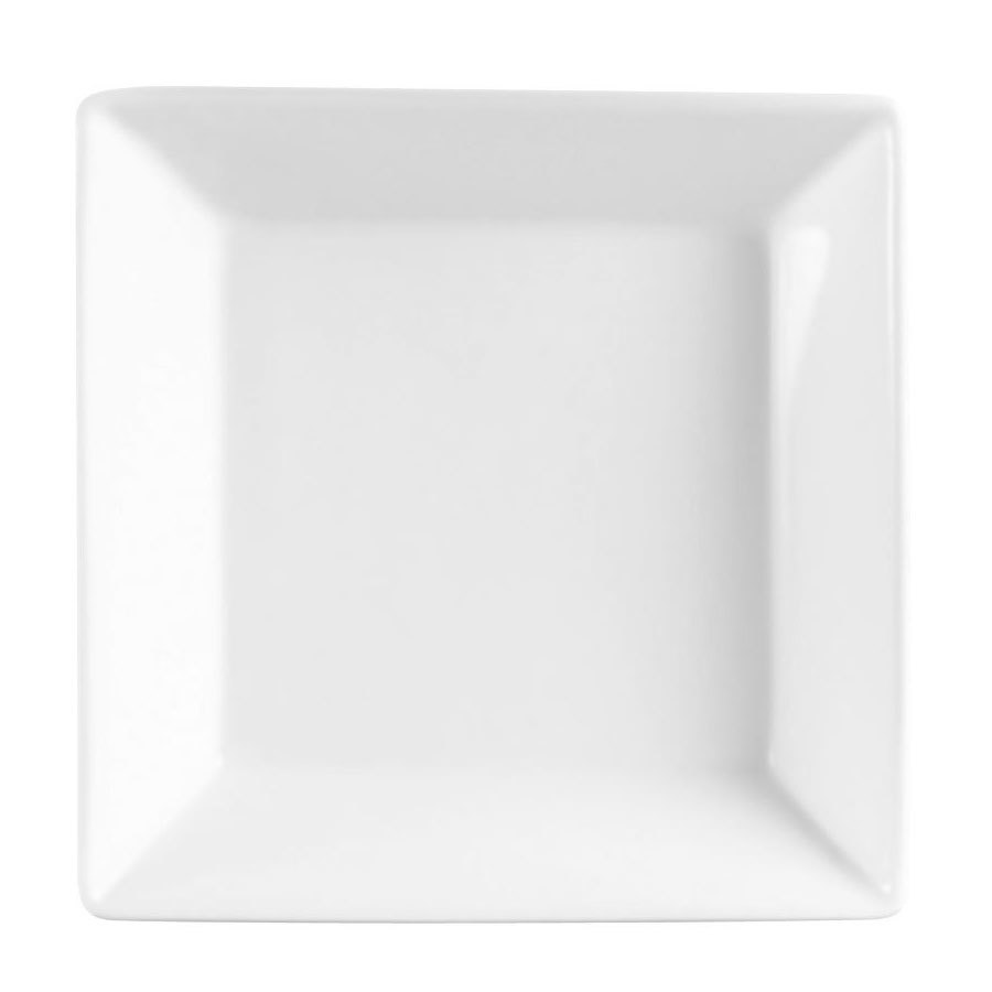 CAC KSE-110 Bone White China Square Deep Bowl 1.25 Qt. - 12/Case
