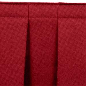 "National Public Seating SB32-36 Burgundy Box Stage Skirt for 32"" Stage - 36"" Long"