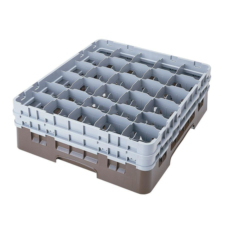 "Cambro 30S958167 Brown Camrack 30 Compartment 10 1/8"" Glass Rack"