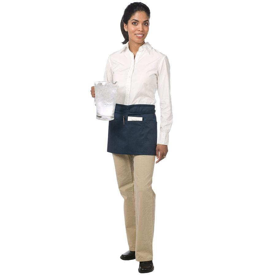 Chef Revival 605WAFH-NV Navy Front of the House Waist Apron – 12 inch x 24 inch