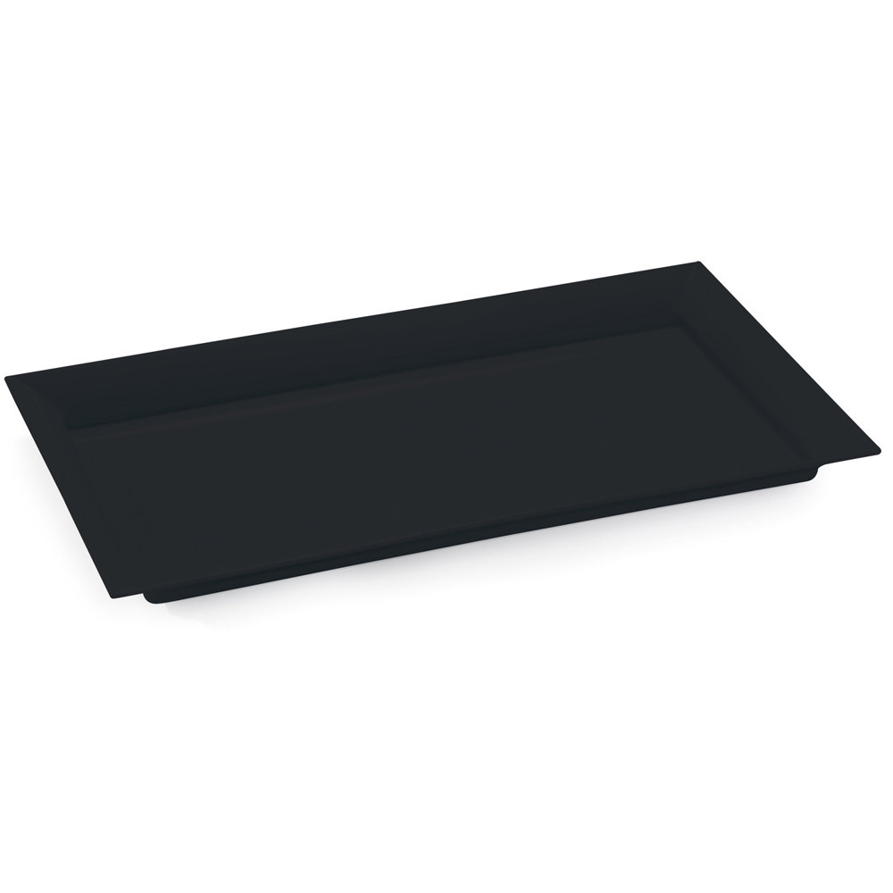 GET ML-242-BK 28 inch x 16 inch Black Siciliano Rectangular Tray