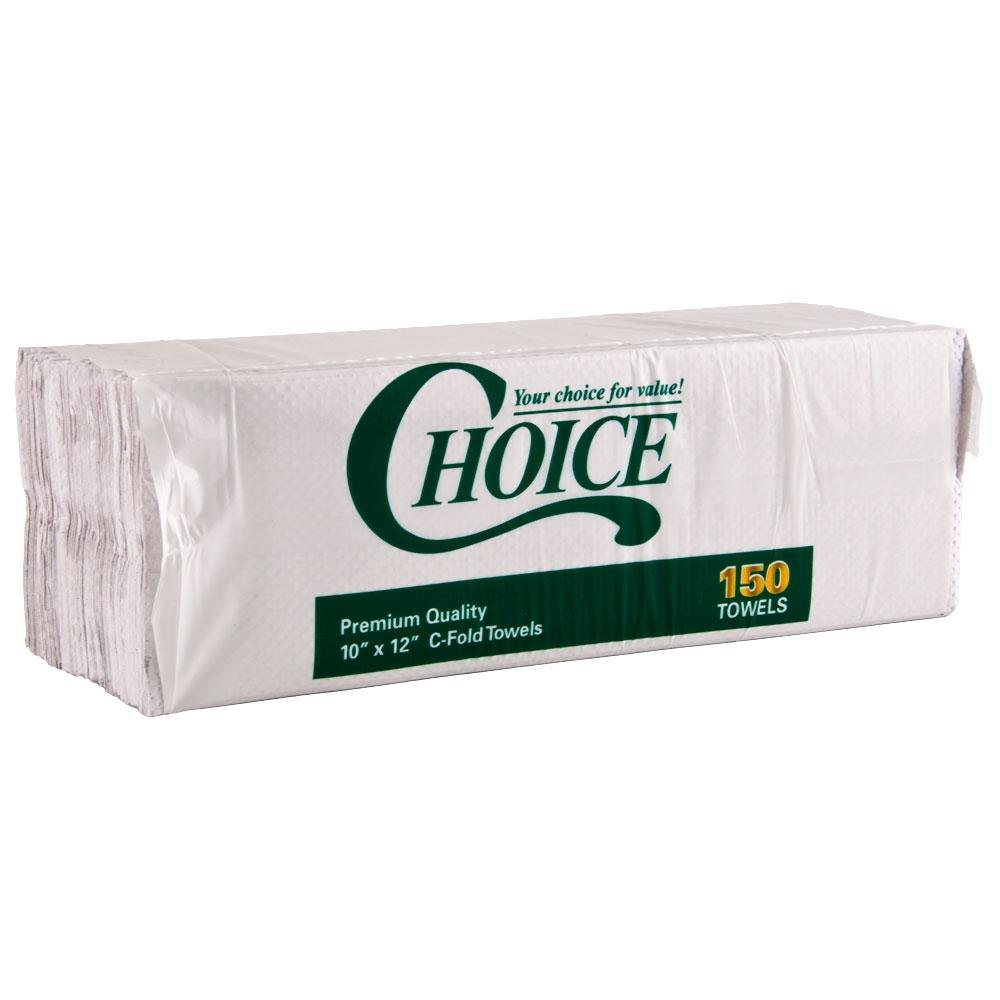 Choice C-Fold (Centerfold) Towel Standard Weight White 2400 / Case