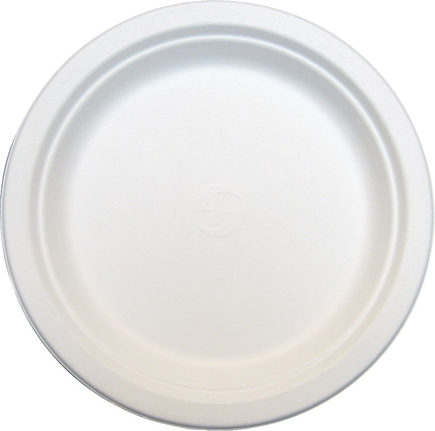 Green Wave TW-POO-009 7 inch Biodegradable Plate 125/ Pack