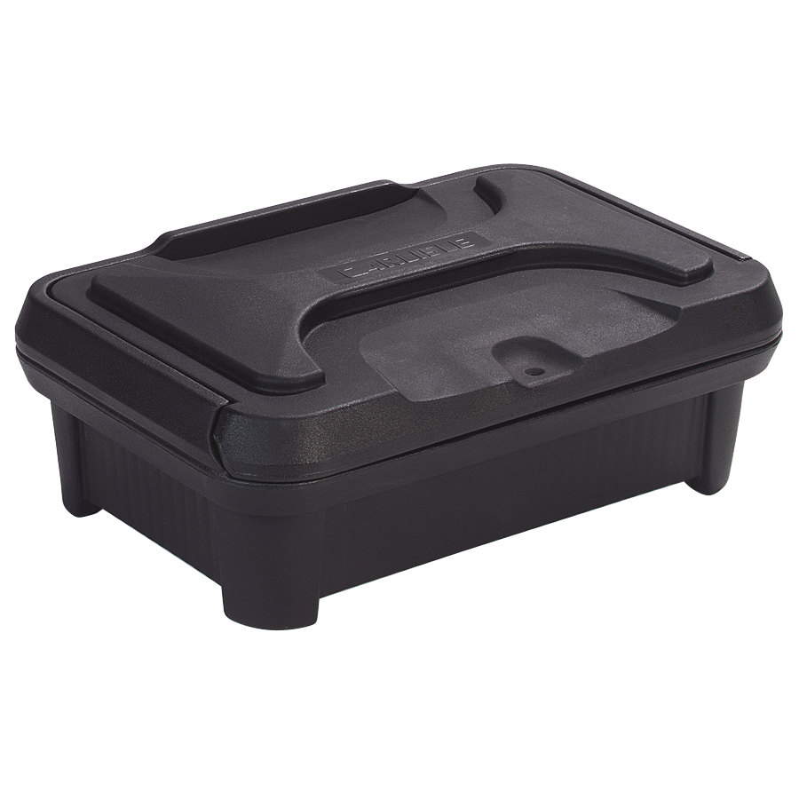 "Carlisle XT140003 Cateraide Slide N Seal 20"" x 12"" x 4"" Black Insulated Food Pan Carrier and Sliding Lid Set"