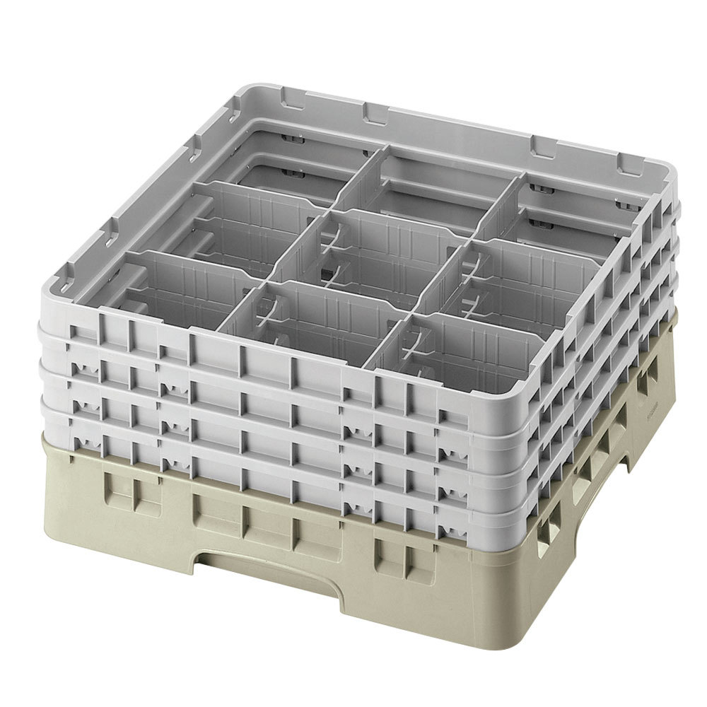 Cambro 9s1114184 Beige Camrack Customizable 9 Compartment