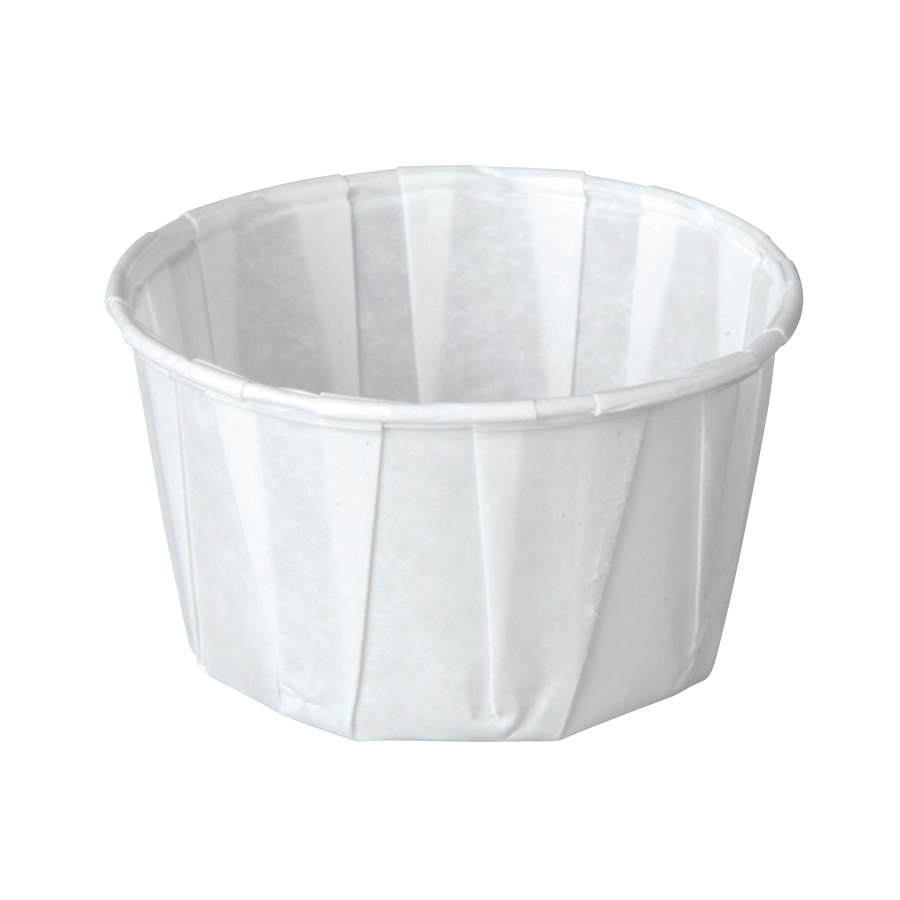 Solo SCC400 4 oz. White Paper Souffle / Portion Cup 250/Box