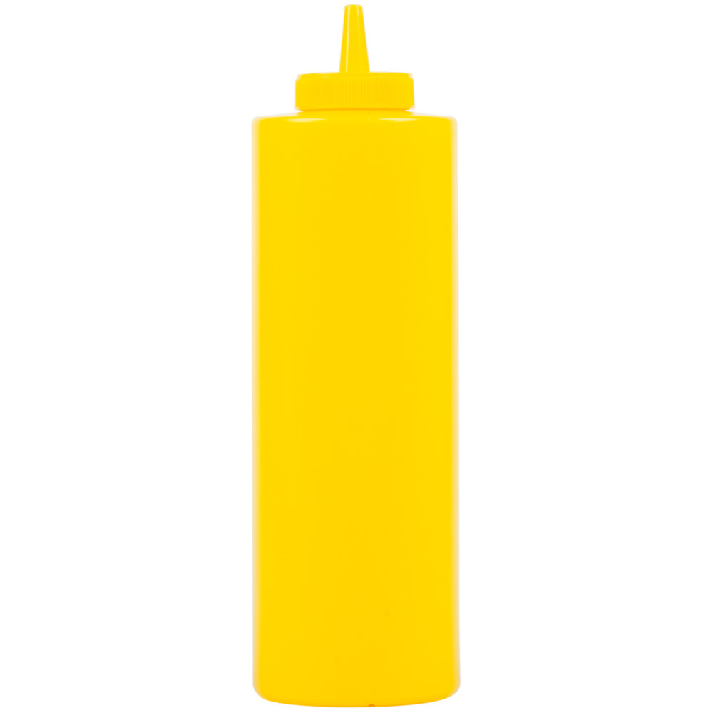 24 oz. Yellow Squeeze Bottle - 6/Pack