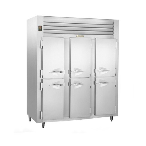 Traulsen RLT332NUT-HHS Stainless Steel 69.5 Cu. Ft. Three-Section Solid Half Door Narrow Reach-In Freezer - Specification Line