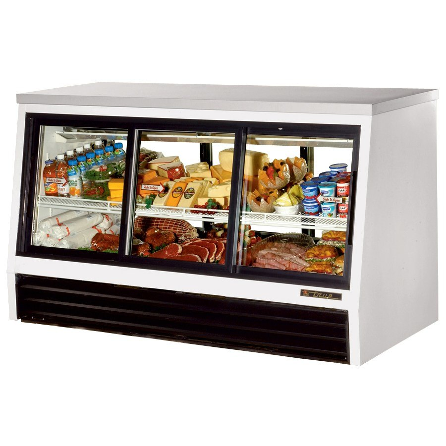 True TSID-72-6-L Counter Height Six Door Refrigerated Deli Case - 25 Cu. Ft.