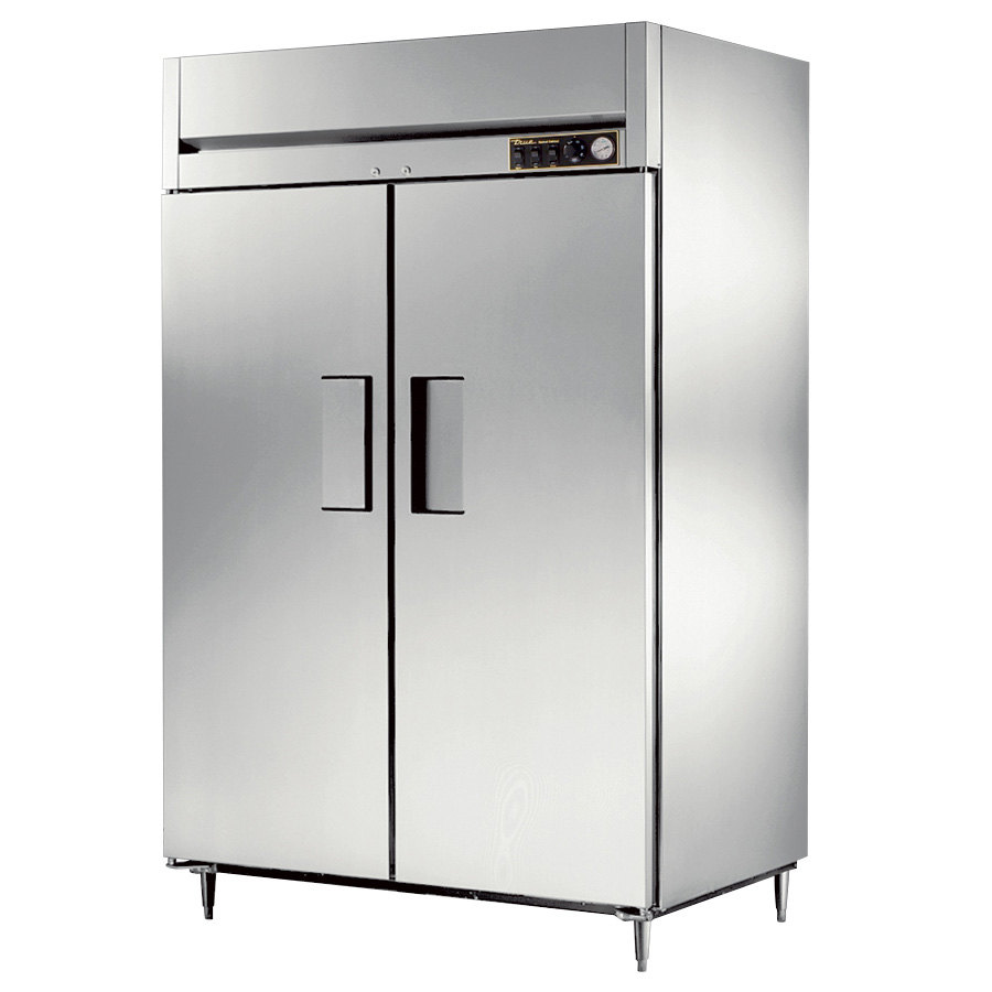 True STR2H-2S Specification Series Solid Door Two Section Reach In Heated Holding Cabinet - 56 Cu. Ft.