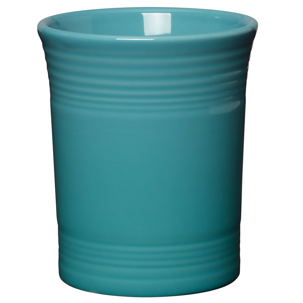 "Homer Laughlin 447107 Fiesta Turquoise 6 5/8"" Utensil Crock - 4/Case"