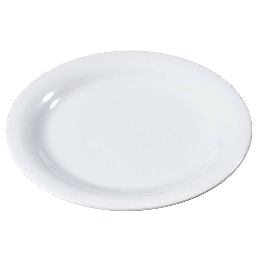 "Carlisle 3300602 7 1/4"" White Sierrus Narrow Rim Salad Plate - 48/Case"