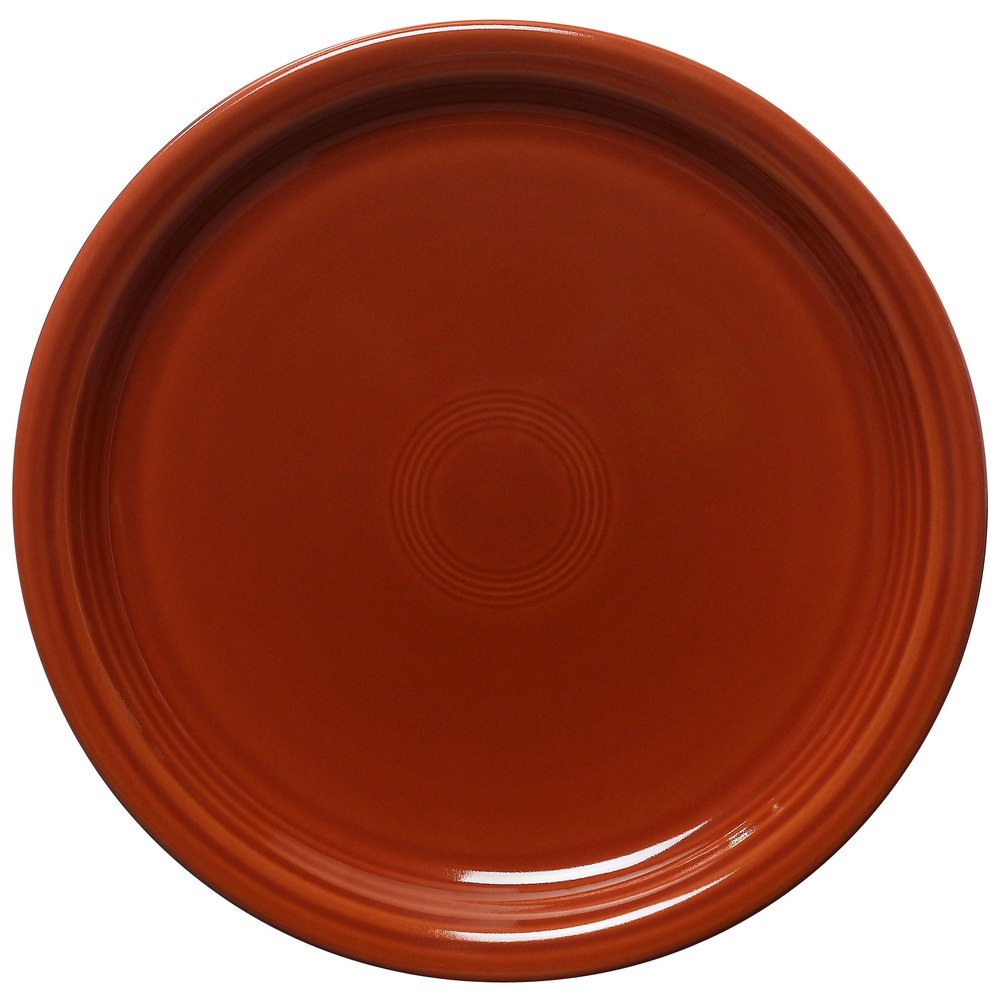 "Homer Laughlin 465334 Fiesta Paprika 9"" Luncheon Plate - 12 / Case"