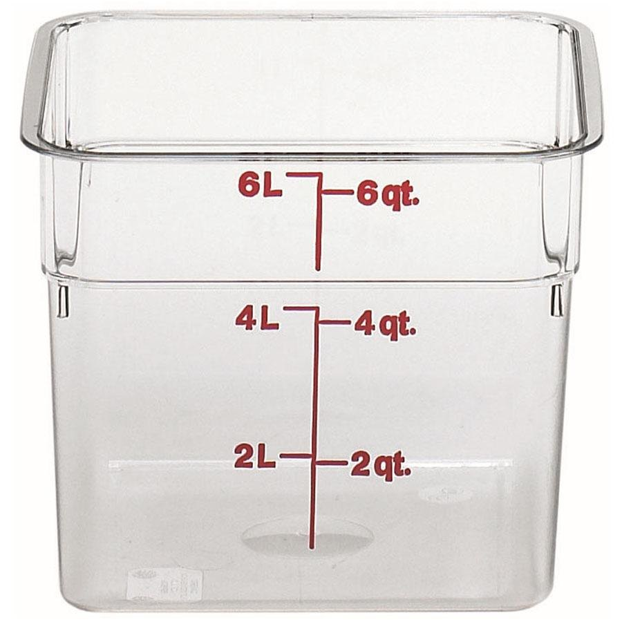 Cambro 6SFSCW 6 Qt. Square Food Storage Container