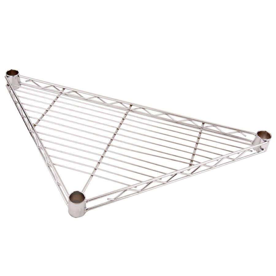 "Regency 24"" NSF Chrome Triangle Shelf"