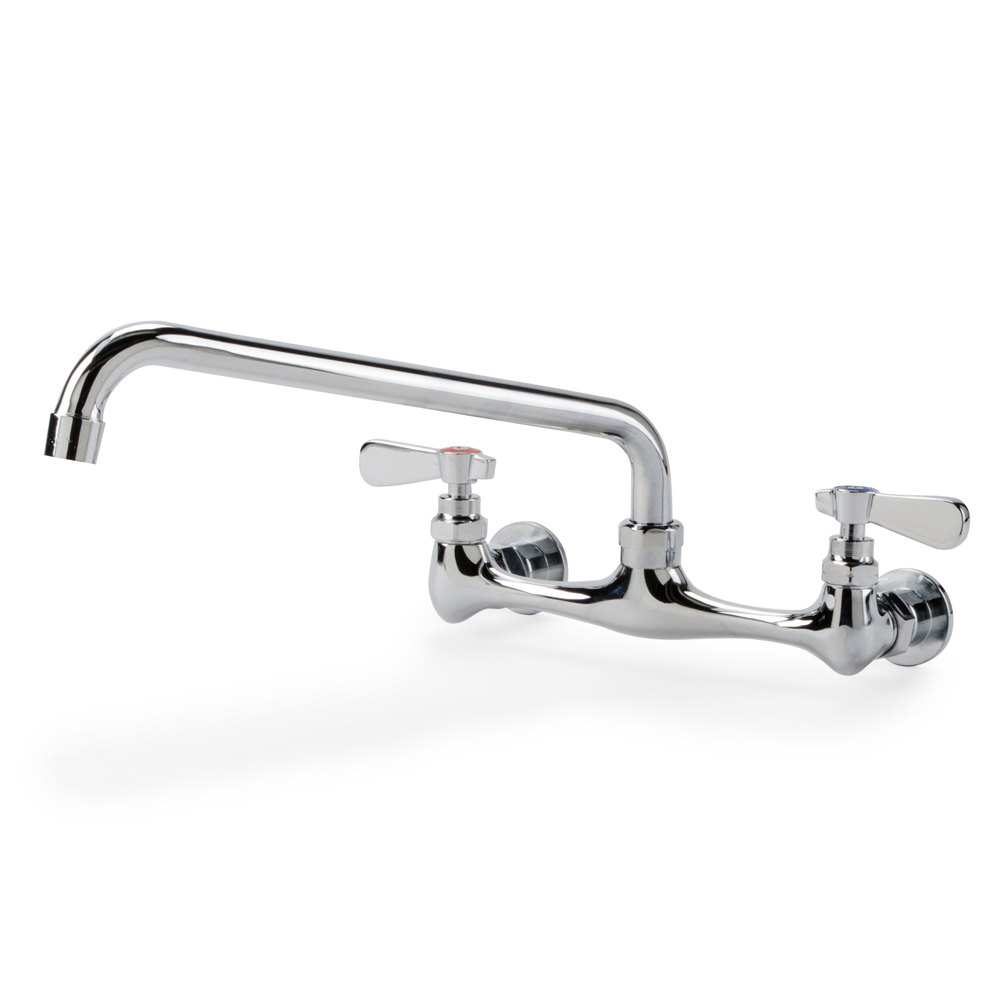 Regency Wall Mounted Swivel Faucet with 8 inch Centers - 12 inch Swing Spout