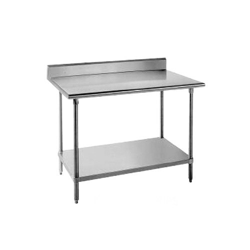 stainless steel 36 x 24 work table with undershelf and backsp