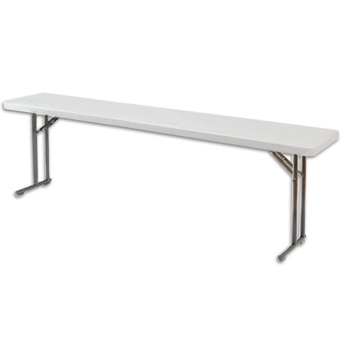 "National Public Seating BT-1872 18"" x 72"" Speckled Gray Plastic Folding Seminar Table"