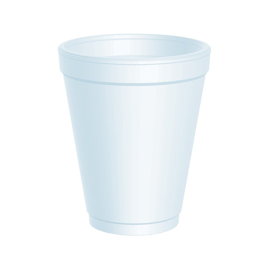 Dart 10J10 10 oz. White Foam Cup 25 / Pack