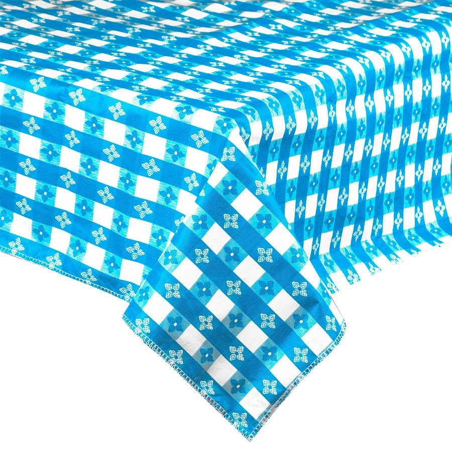 Blue-Checkered Vinyl Table Cover with Flannel Back - 25 Yard Roll at Sears.com