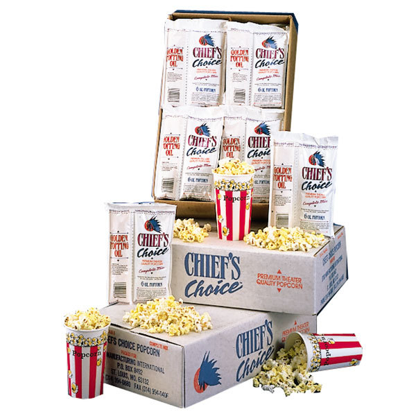 8 oz. Star Chief's Choice CC24-8OZ All-in-One Popcorn Kit - 24/Case
