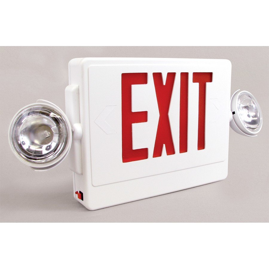 emergency exit sign with led emergency lighting battery. Black Bedroom Furniture Sets. Home Design Ideas
