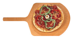 "American Metalcraft MP1424 14"" x 16"" Pressed Pizza Peel with 9"" Handle"
