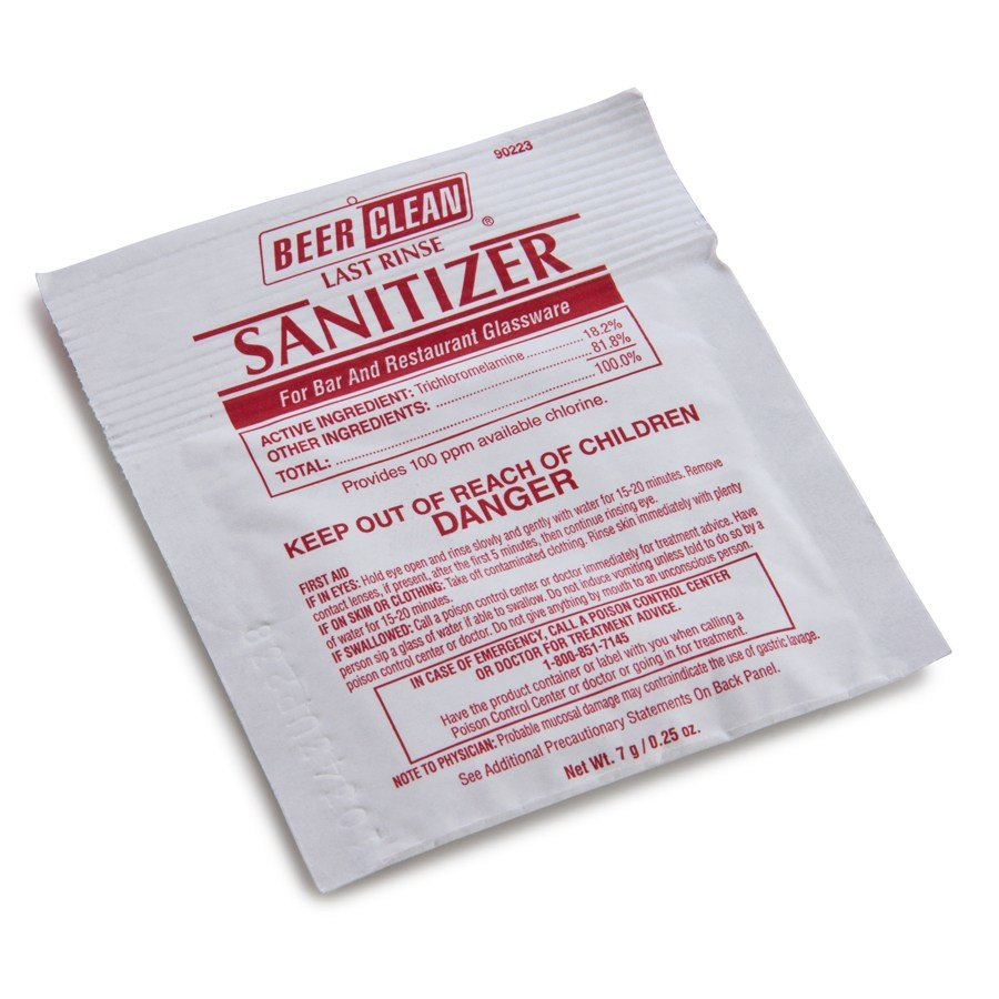 Diversey 90223 Beer Clean Sanitizer 0.25 oz. Packet 100 / Case