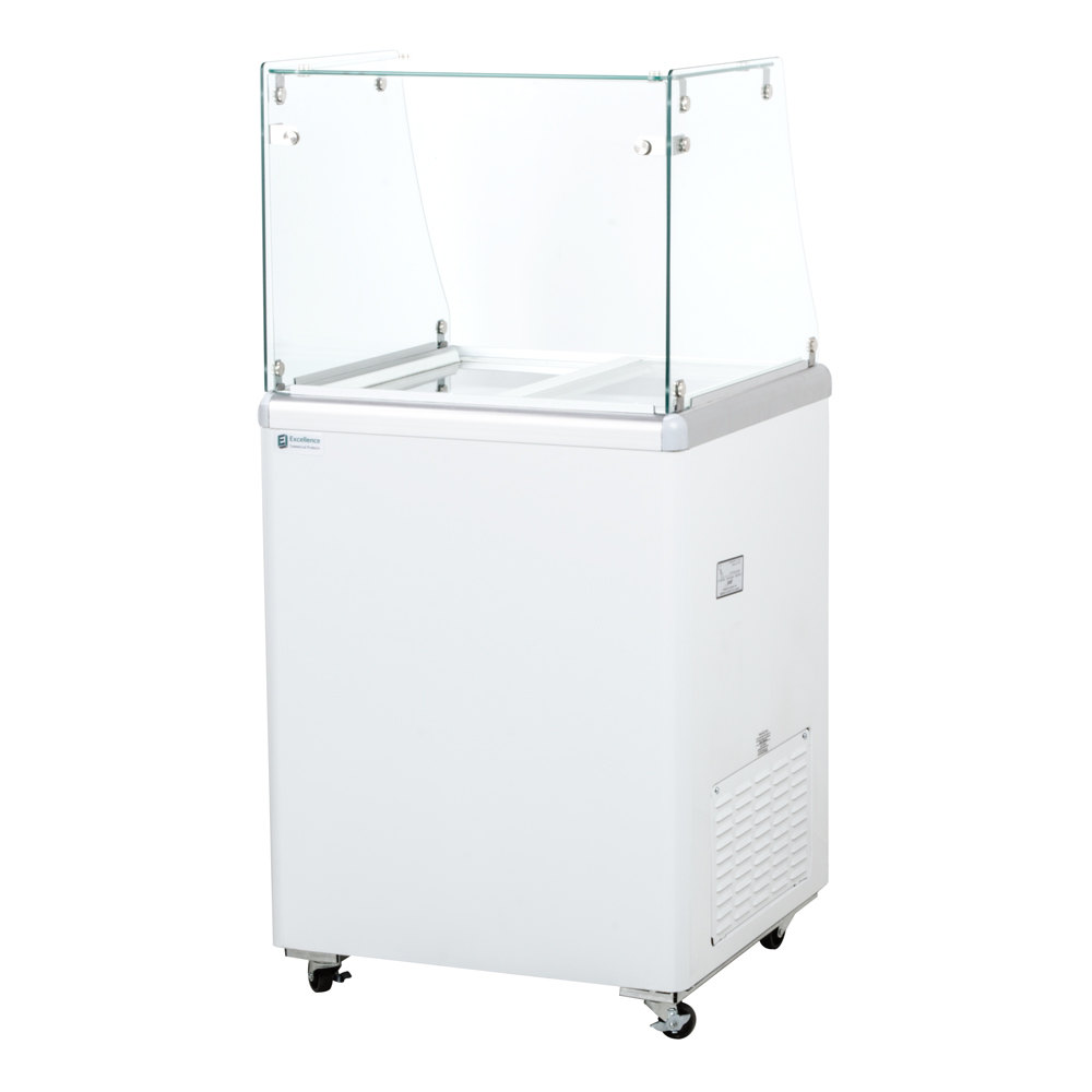 "Excellence EDC-4 25"" Straight Glass Ice Cream Dipping Cabinet"
