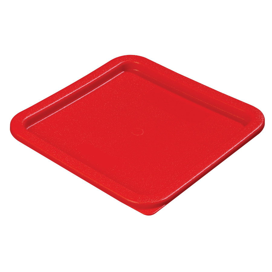 Carlisle 10741 Lid for 6, 8 Qt. Square StorPlus Containers (Red)