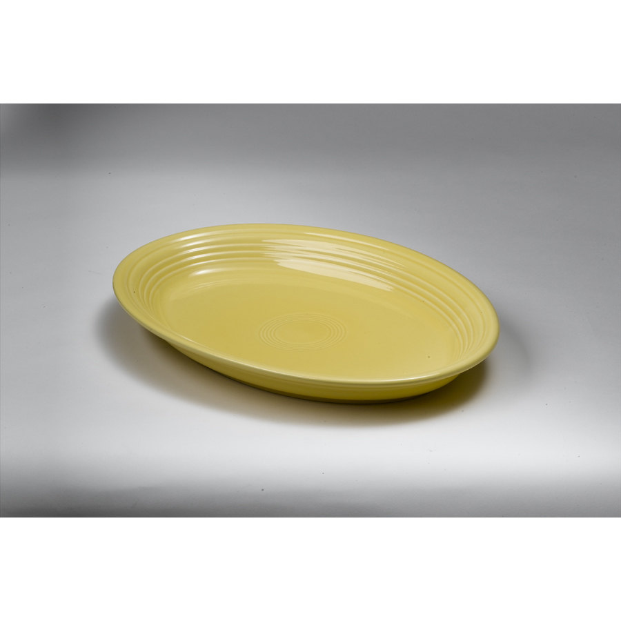 Homer Laughlin 458320 Fiesta Sunflower 13 5/8 inch Platter - 12 / Case