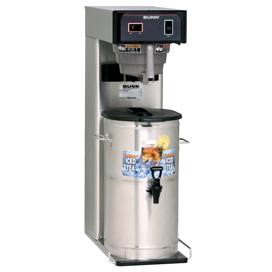 "Bunn 36700.0041 TB3Q 3 Gallon Quick Brew Iced Tea Brewer with 29"" Trunk and Dispenser - 120V"