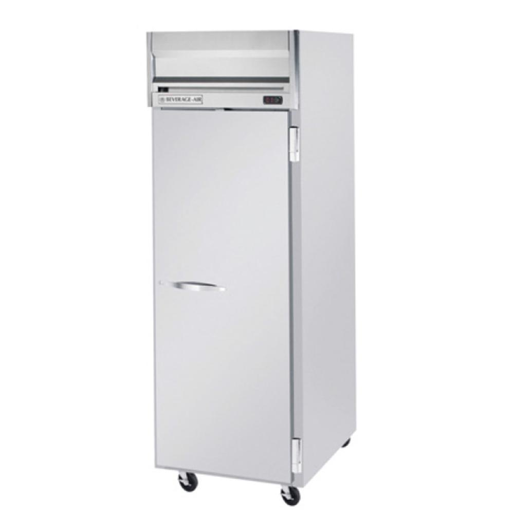 Beverage Air HFP1-1S 1 Section Solid Door Reach-In Freezer - 24 cu. ft., Stainless Steel Exterior
