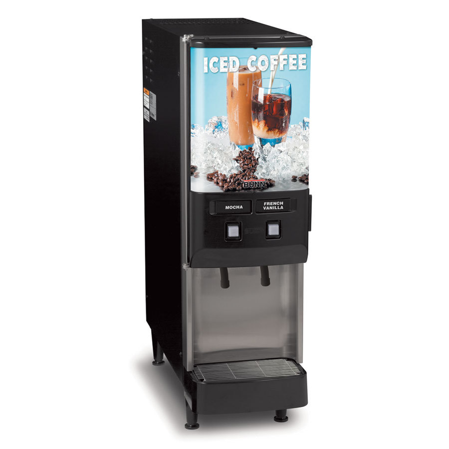 Bunn JDF-2S 2 Flavor Cold Beverage Iced Coffee Dispenser - 120V (Bunn 37900.0002)