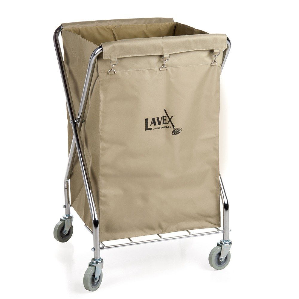Lavex Lodging 10 Bushel Metal X Frame Folding Laundry Cart
