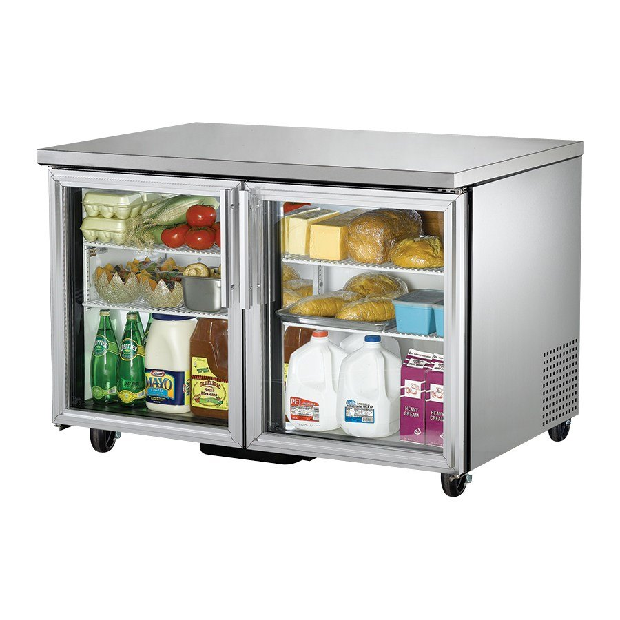True TUC-48G 48 inch Glass Door Undercounter Refrigerator