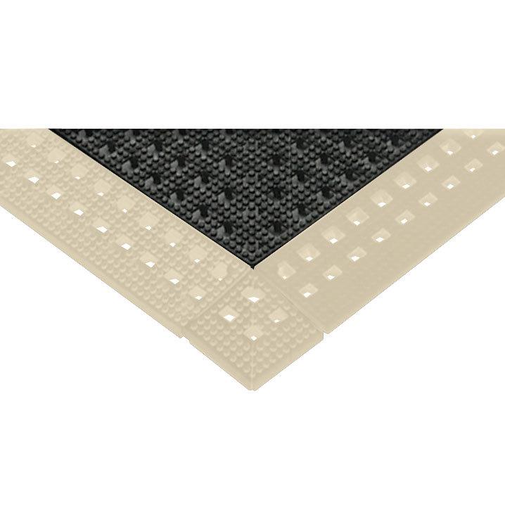 Corner Bakery Tiles : Cactus mat almond vinyl interlocking drainage floor tile