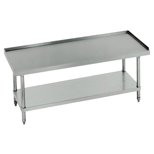 "Advance Tabco EG-LG-246 24"" x 72"" Stainless Steel Equipment Stand with Galvanized Undershelf"