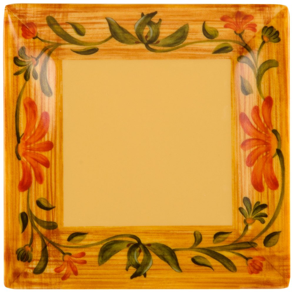 "GET ML-102-VN Venetian 6"" Square Plate - 12/Pack"