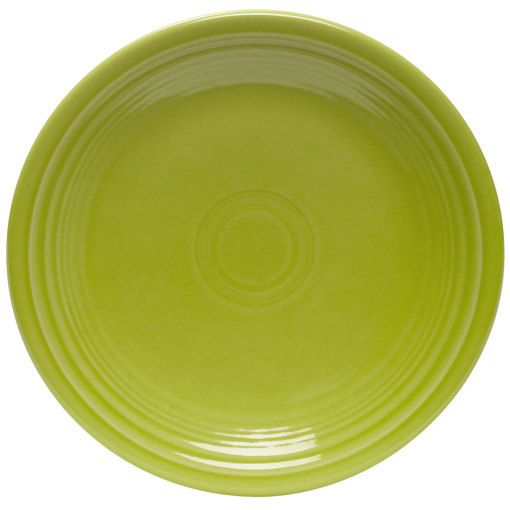 "Homer Laughlin 465332 Fiesta Lemongrass 9"" Luncheon Plate - 12/Case"